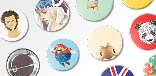 Badges personnalis�s avec �pingle